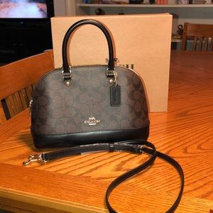 Coach Mini Sierra Signature Handbag